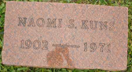 KUNS, NAOMI S. - Montgomery County, Ohio | NAOMI S. KUNS - Ohio Gravestone Photos