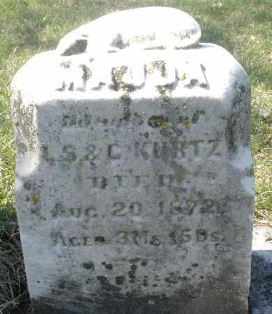 KURTZ, MAUD A. - Montgomery County, Ohio | MAUD A. KURTZ - Ohio Gravestone Photos