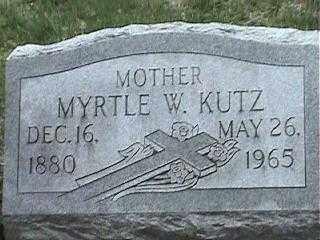 KUTZ, MYRTLE W. - Montgomery County, Ohio | MYRTLE W. KUTZ - Ohio Gravestone Photos
