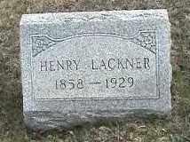 LACKNER, HENRY - Montgomery County, Ohio | HENRY LACKNER - Ohio Gravestone Photos