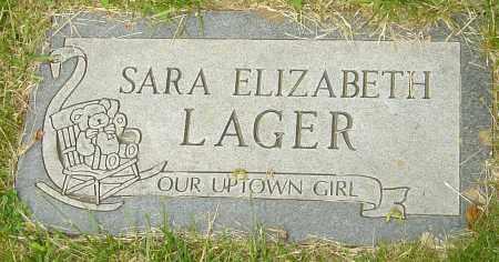 LAGER, SARA ELIZABETH - Montgomery County, Ohio | SARA ELIZABETH LAGER - Ohio Gravestone Photos
