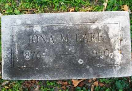 LAKE, JONA M. - Montgomery County, Ohio | JONA M. LAKE - Ohio Gravestone Photos