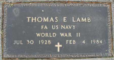LAMB, THOMAS E. - Montgomery County, Ohio | THOMAS E. LAMB - Ohio Gravestone Photos
