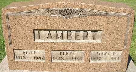 LAMBERT, PERRY - Montgomery County, Ohio | PERRY LAMBERT - Ohio Gravestone Photos