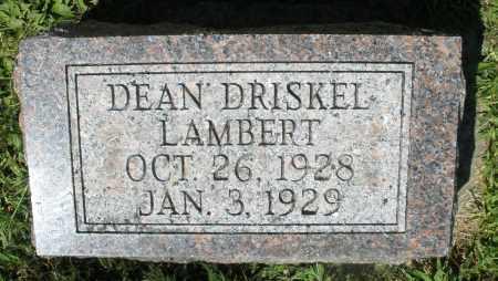 LAMBERT, DEAN DRISKEL - Montgomery County, Ohio | DEAN DRISKEL LAMBERT - Ohio Gravestone Photos