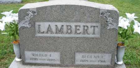 LAMBERT, WILBUR E. - Montgomery County, Ohio | WILBUR E. LAMBERT - Ohio Gravestone Photos
