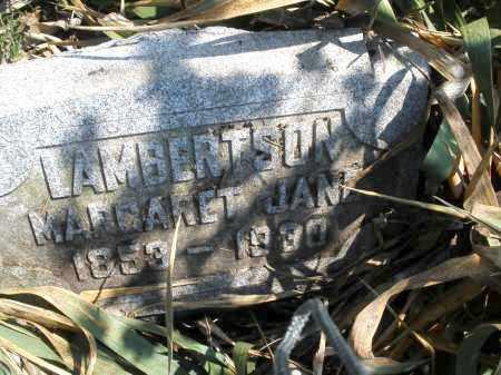 LAMBERTSON, MARGARET JANE - Montgomery County, Ohio | MARGARET JANE LAMBERTSON - Ohio Gravestone Photos