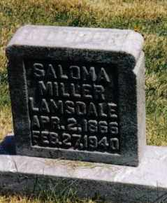 MILLER LAMSDALE, SALOMA - Montgomery County, Ohio | SALOMA MILLER LAMSDALE - Ohio Gravestone Photos