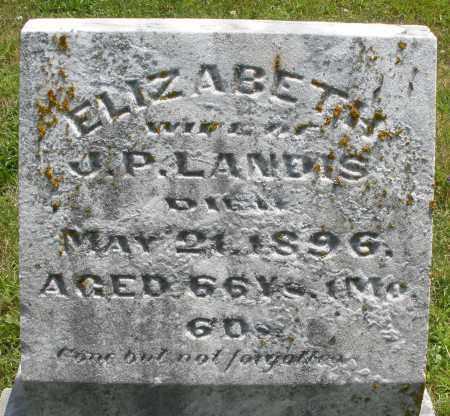 LANDIS, ELIZABETH - Montgomery County, Ohio | ELIZABETH LANDIS - Ohio Gravestone Photos