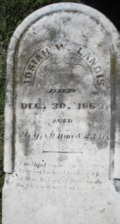 LANDIS, JOSIAH W. - Montgomery County, Ohio | JOSIAH W. LANDIS - Ohio Gravestone Photos