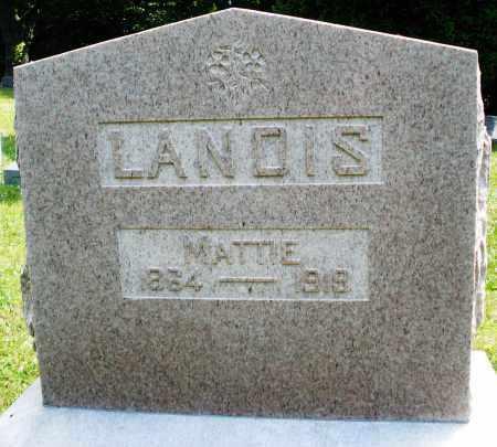 LANDIS, MATTIE - Montgomery County, Ohio | MATTIE LANDIS - Ohio Gravestone Photos