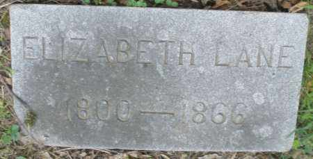 LANE, ELIZABETH - Montgomery County, Ohio | ELIZABETH LANE - Ohio Gravestone Photos