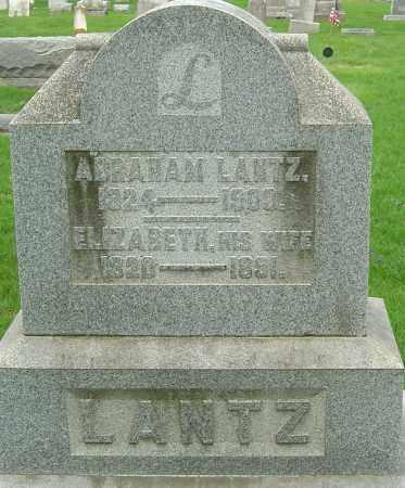 LANTZ, ELIZABETH - Montgomery County, Ohio | ELIZABETH LANTZ - Ohio Gravestone Photos