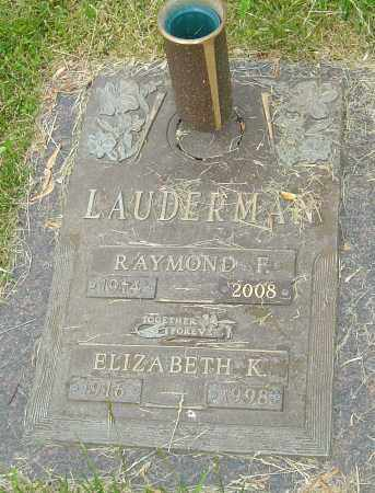 LAUDERMAN, ELIZABETH K - Montgomery County, Ohio | ELIZABETH K LAUDERMAN - Ohio Gravestone Photos