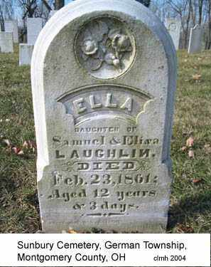 LAUGHLIN, ELLA - Montgomery County, Ohio | ELLA LAUGHLIN - Ohio Gravestone Photos