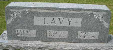 LAVY, MARY E. - Montgomery County, Ohio | MARY E. LAVY - Ohio Gravestone Photos