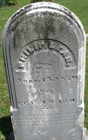 LEAR, PHILIP - Montgomery County, Ohio | PHILIP LEAR - Ohio Gravestone Photos