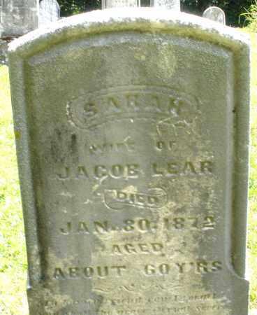 LEAR, SARAH - Montgomery County, Ohio | SARAH LEAR - Ohio Gravestone Photos