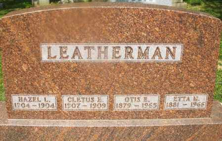 LEATHERMAN, CLETUS E. - Montgomery County, Ohio | CLETUS E. LEATHERMAN - Ohio Gravestone Photos