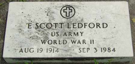 LEDFORD, ELMER SCOTT - Montgomery County, Ohio | ELMER SCOTT LEDFORD - Ohio Gravestone Photos