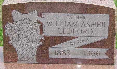 LEDFORD, WILLIAM ASHER - Montgomery County, Ohio | WILLIAM ASHER LEDFORD - Ohio Gravestone Photos