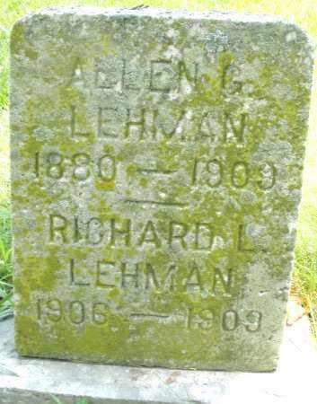 LEHMAN, ALLEN G. - Montgomery County, Ohio | ALLEN G. LEHMAN - Ohio Gravestone Photos