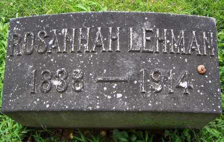 LEHMAN, ROSANNAH - Montgomery County, Ohio   ROSANNAH LEHMAN - Ohio Gravestone Photos