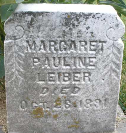 LEIBER, MARGARET PAULINE - Montgomery County, Ohio | MARGARET PAULINE LEIBER - Ohio Gravestone Photos