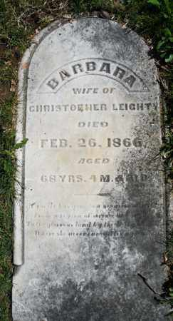 LEIGHT, BARBARA - Montgomery County, Ohio   BARBARA LEIGHT - Ohio Gravestone Photos