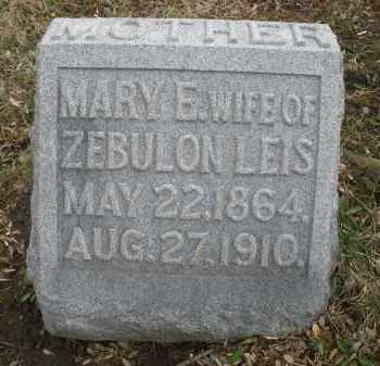 LEIS, MARY E. - Montgomery County, Ohio | MARY E. LEIS - Ohio Gravestone Photos