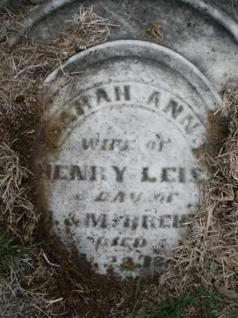 BREHM LEIS, SARAH ANN - Montgomery County, Ohio | SARAH ANN BREHM LEIS - Ohio Gravestone Photos