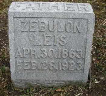 LEIS, ZEBULON - Montgomery County, Ohio | ZEBULON LEIS - Ohio Gravestone Photos