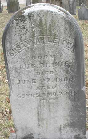 LEITER, SUSANNAH - Montgomery County, Ohio | SUSANNAH LEITER - Ohio Gravestone Photos