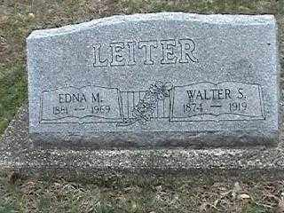 LEITER, EDNA M. - Montgomery County, Ohio | EDNA M. LEITER - Ohio Gravestone Photos