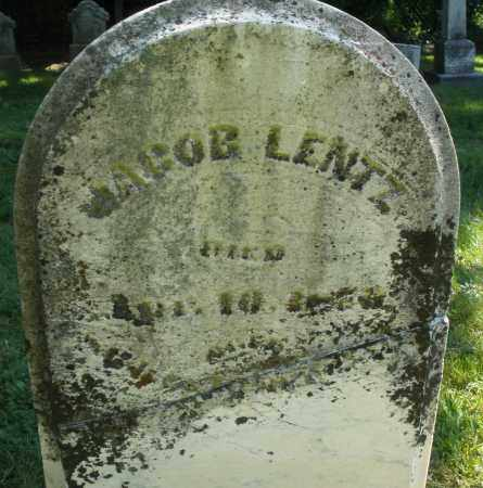 LENTZ, JACOB - Montgomery County, Ohio | JACOB LENTZ - Ohio Gravestone Photos