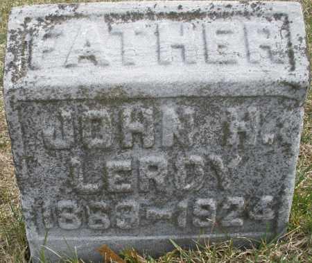 LEROY, JOHN H. - Montgomery County, Ohio | JOHN H. LEROY - Ohio Gravestone Photos