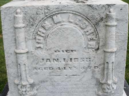 LESHER, JOHN M. - Montgomery County, Ohio   JOHN M. LESHER - Ohio Gravestone Photos