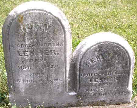 LESHER, EM...? - Montgomery County, Ohio | EM...? LESHER - Ohio Gravestone Photos