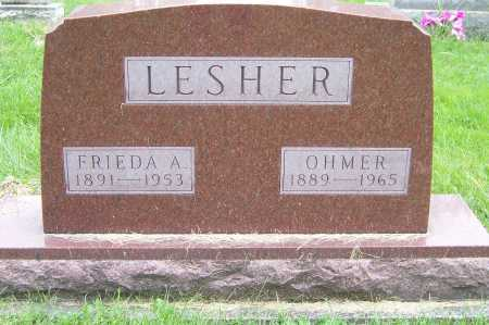 LESHER, OHMER - Montgomery County, Ohio | OHMER LESHER - Ohio Gravestone Photos