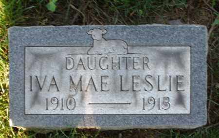 LESLIE, IVA MAE - Montgomery County, Ohio | IVA MAE LESLIE - Ohio Gravestone Photos