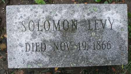 LEVY, SOLOMON - Montgomery County, Ohio | SOLOMON LEVY - Ohio Gravestone Photos