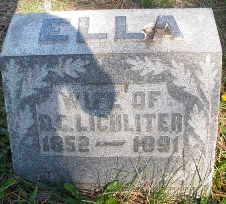 LICHLITER, ELLA - Montgomery County, Ohio | ELLA LICHLITER - Ohio Gravestone Photos