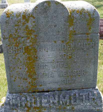 LEASER LINDENMUTH, MALINDA - Montgomery County, Ohio | MALINDA LEASER LINDENMUTH - Ohio Gravestone Photos