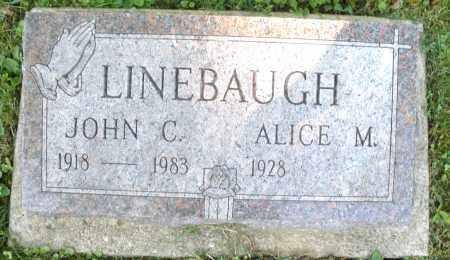 LINEBAUGH, JOHN C. - Montgomery County, Ohio | JOHN C. LINEBAUGH - Ohio Gravestone Photos
