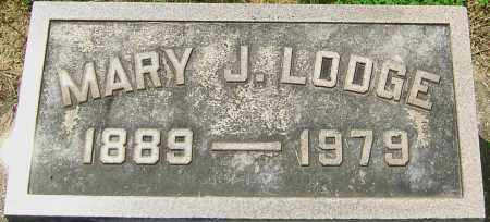 LODGE, MARY J - Montgomery County, Ohio | MARY J LODGE - Ohio Gravestone Photos