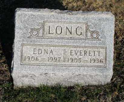 LONG, EDNA - Montgomery County, Ohio | EDNA LONG - Ohio Gravestone Photos