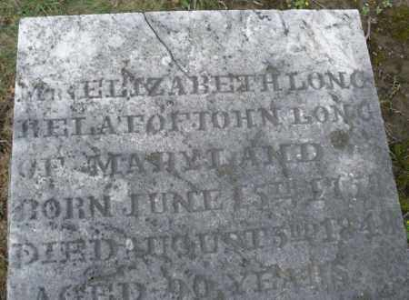 LONG, ELIZABETH - Montgomery County, Ohio | ELIZABETH LONG - Ohio Gravestone Photos