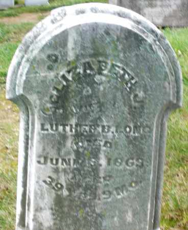 LONG, ELIZABETH J. - Montgomery County, Ohio | ELIZABETH J. LONG - Ohio Gravestone Photos