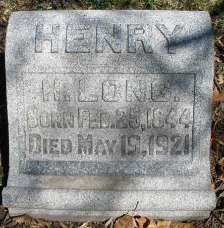 LONG, HENRY - Montgomery County, Ohio | HENRY LONG - Ohio Gravestone Photos