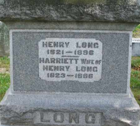 LONG, HARRIET - Montgomery County, Ohio | HARRIET LONG - Ohio Gravestone Photos